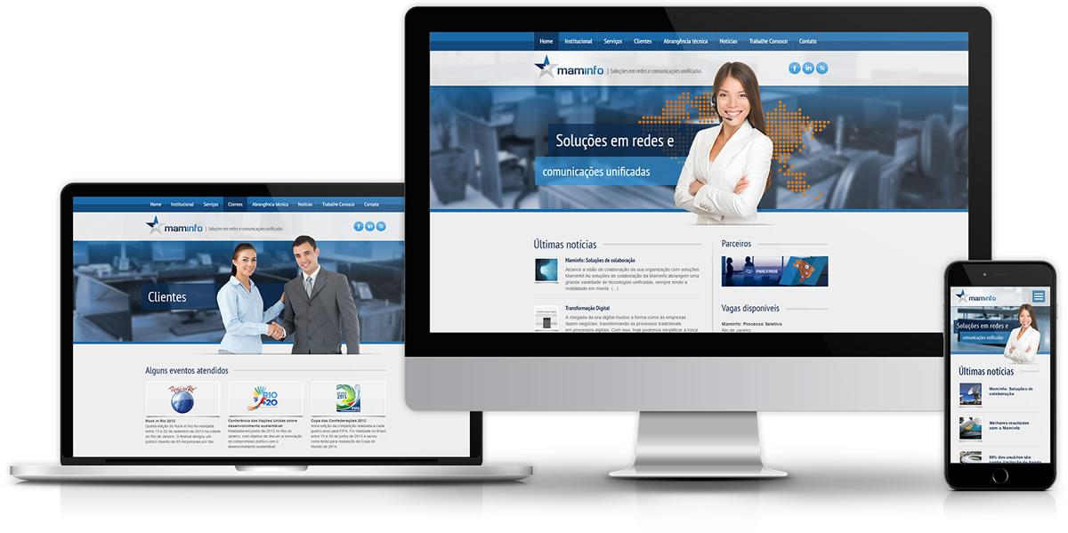 Desenvolvimento de website gerenciável