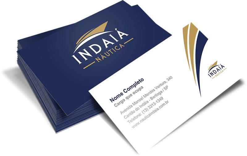 Identidade Visual - Cartão de visitas Náutica Indaiá