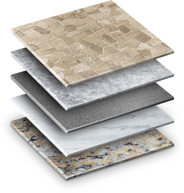 Ilustração de tipos de piso