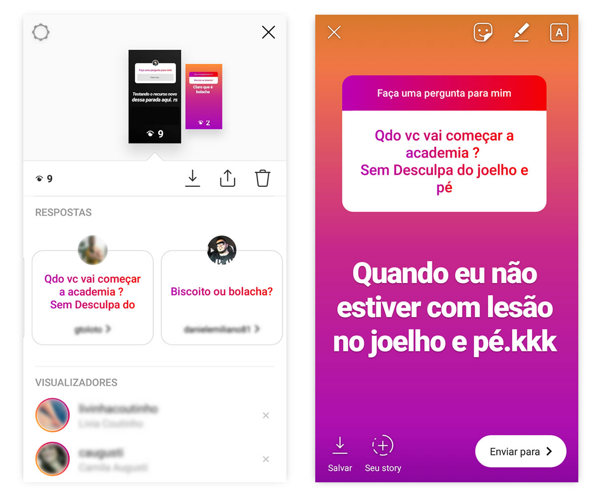 Histórias do Instagram